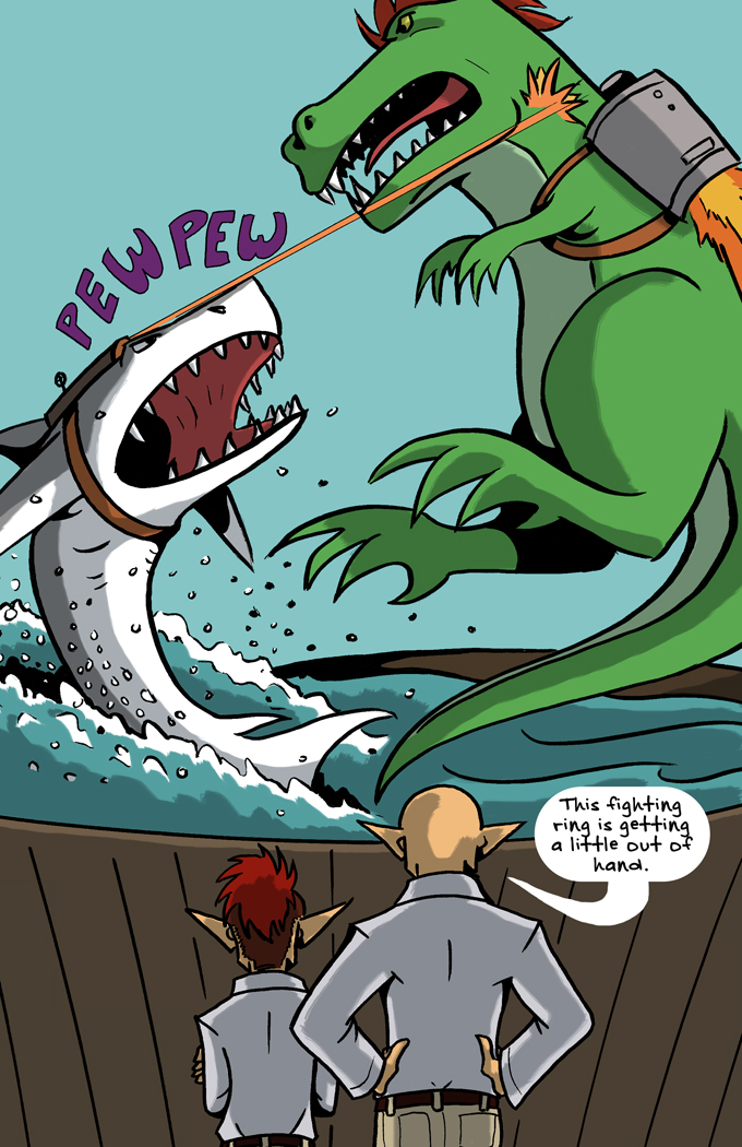 "Johnson & Sir 50: ""T-Rex vs Shark!"""